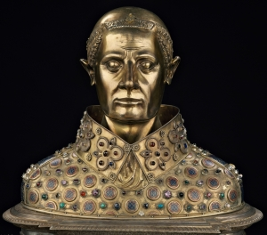 Silver bust of St. Januarius, by Guillaume de Verdelay, Milet d'Auxerre and Etienne Godefroy (1304).