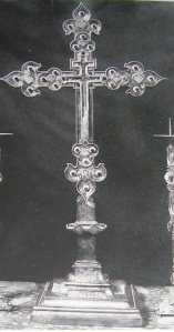 Bari, Church of St. Nicholas, lilied cross donated by Charles 2nd of Anjou.