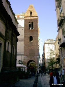 Photo 11: Naples, church of Santa Maria della Pietrasanta, bell tower.